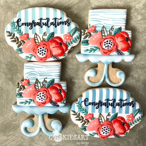graphic design style wedding sugar cookies -- cookie decorating tutorial