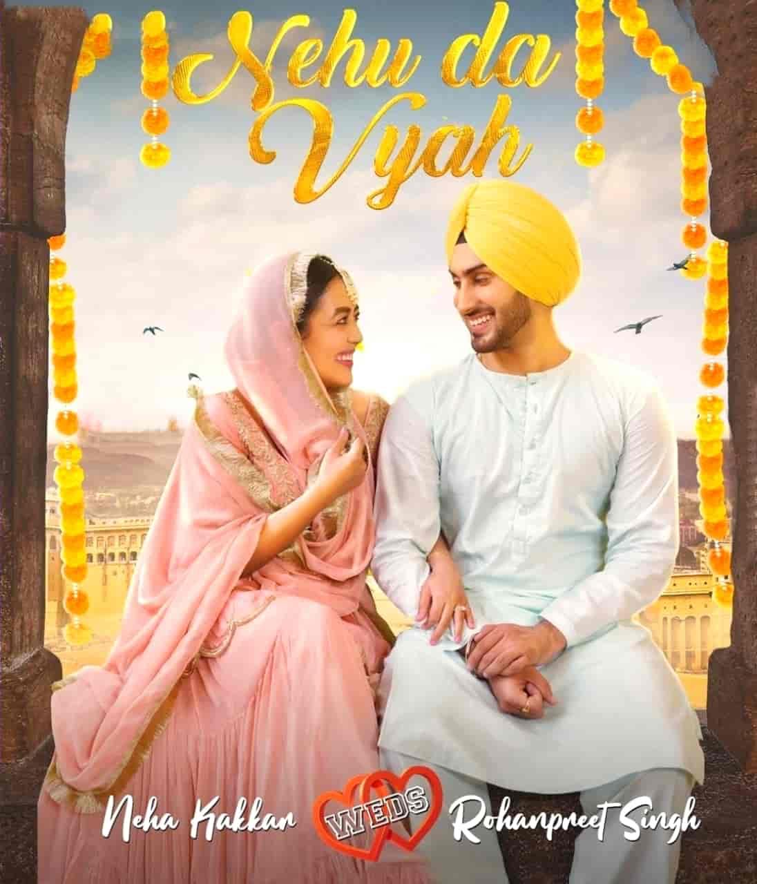 Nehu Da Vyah Punjabi Song Image Features Neha Kakkar and Rohanpreet Singh