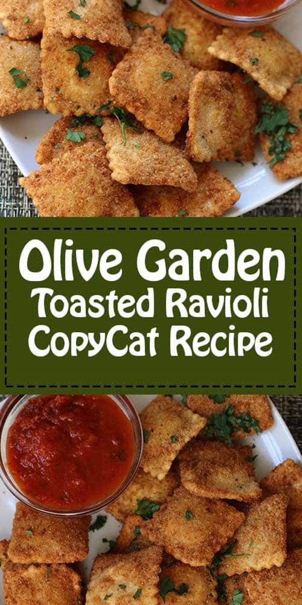 Olive Garden Toasted Ravioli #appetizerrecipes