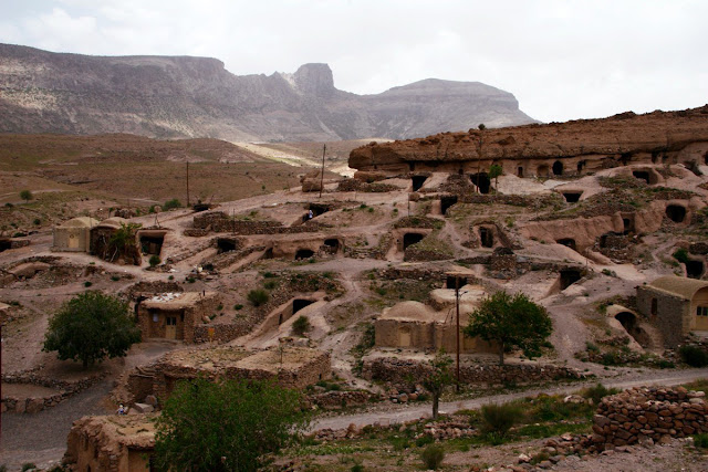 The hand dug caves in Meymand village of Kerman province.