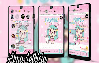 None Girls Theme For YOWhatsApp & Fouad WhatsApp By Alma lethicia