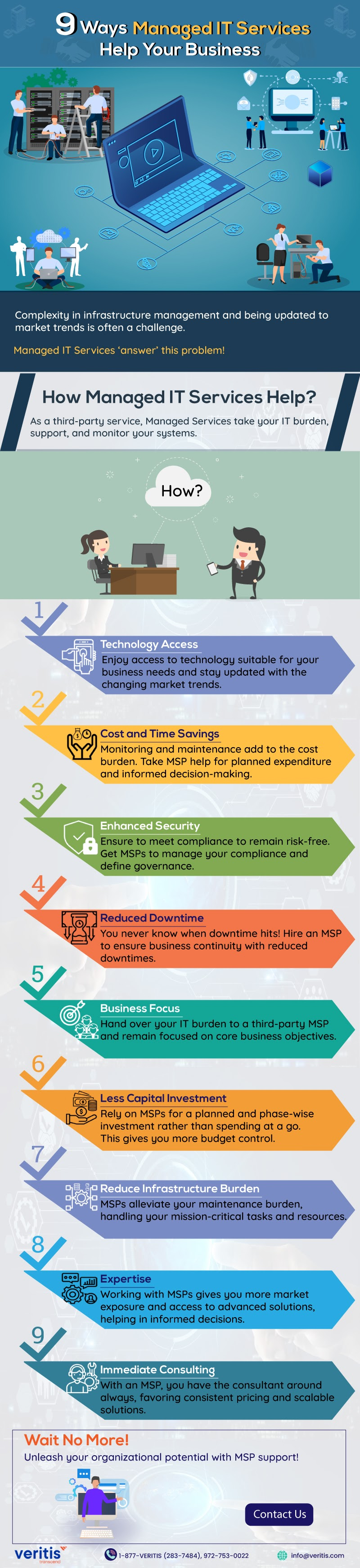 9 Ways Managed IT Services Help Your Business #infographic