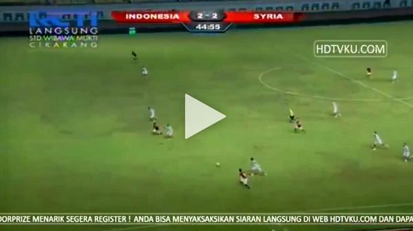 [VIDEO GOL] Timnas Indonesia U-23 Takluk oleh Suriah Skor 2-3
