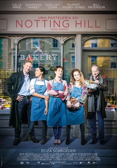 Cartel Una pastelería en Notting Hill