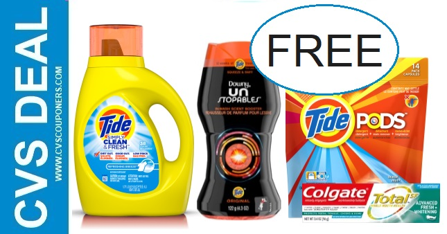 FREE Tide, Downy & Colgate CVS Deals
