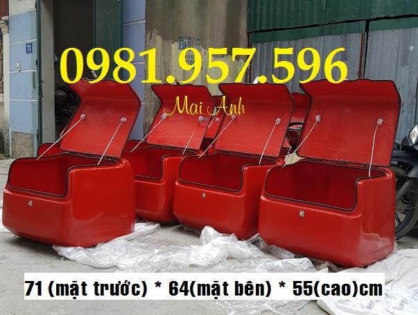 Thùng chở hàng lớn, thùng chở hàng kích thước 71 x 64 x 55cm