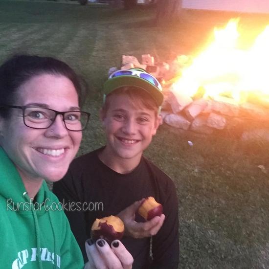 Katie and Eli at bonfire