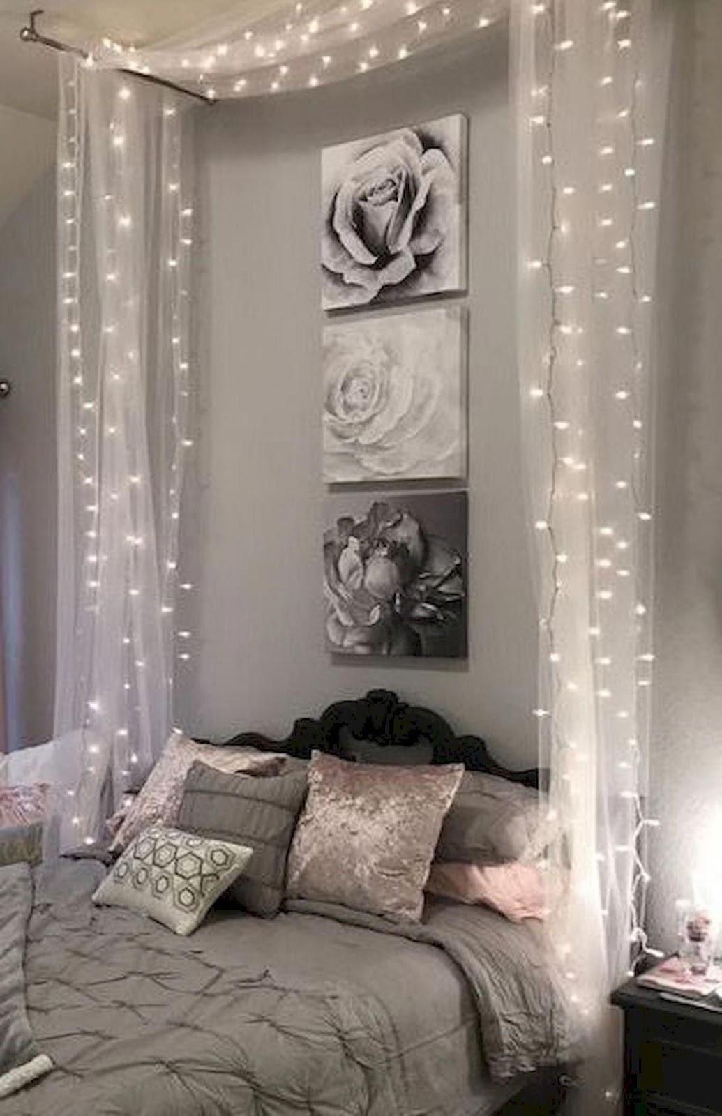 Beautiful DIY Bedroom Fairy Lights