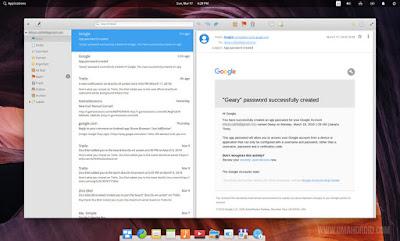 Login Gmail di Geary Sukses