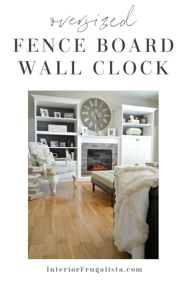 Oversized Fence Board Wall Clock