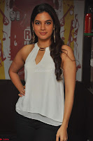 Tanya Hope in a whtie shirt and leggings at Song launch of Movie Patel Sir ~  Exclusive Celebrities Galleries 010.JPG