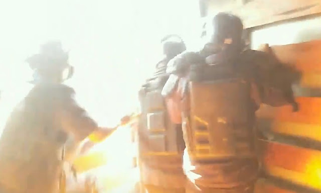 Personal de fiscalización de la Municipalidad de Surco es atacado con bombas molotov