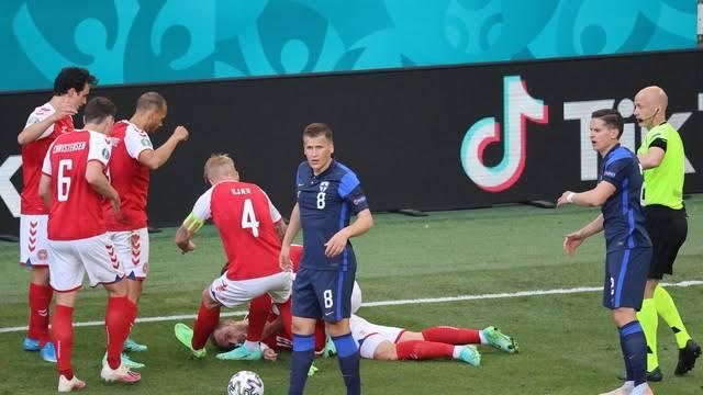 Jogador Eriksen, da Dinamarca, sofre parada cardíaca em campo e partida contra a Finlândia é suspensa