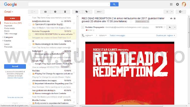 Gmail con riquadro anteprima