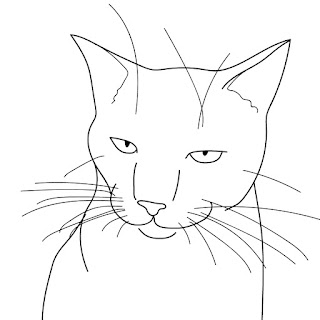 cat face line drawing
