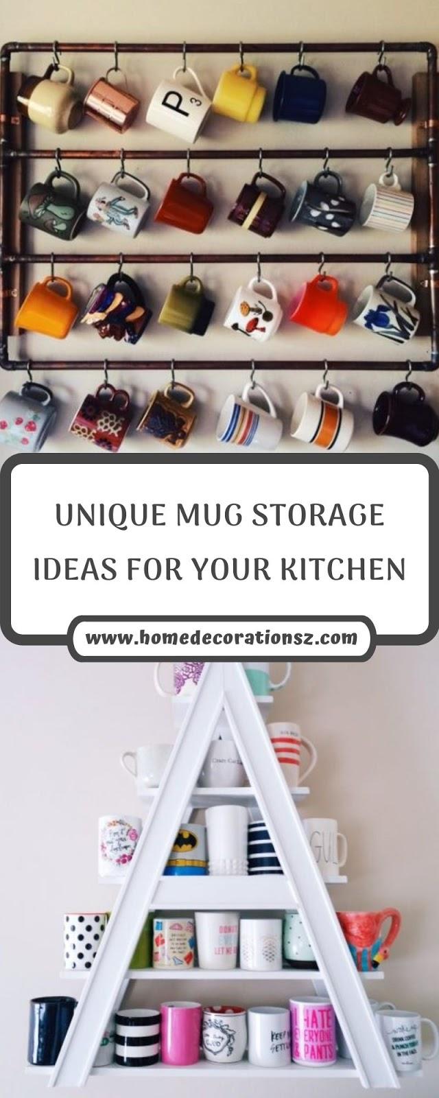UNIQUE MUG STORAGE IDEAS FOR YOUR KITCHEN