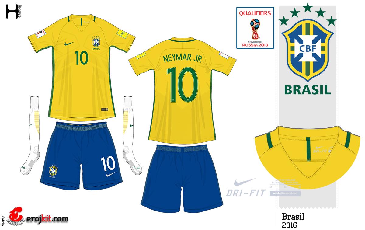 A grande novidade dessa nova coleção é o lançamento do short amarelo para a Seleção  Brasileira. Algo que já havia dito aqui a algum tempo atrás. 27b050e204f78