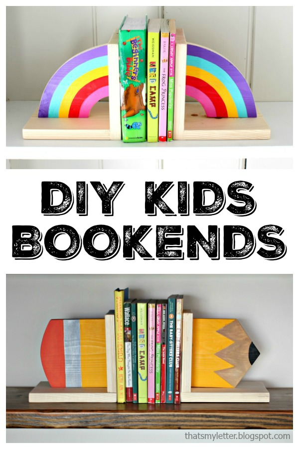 diy kids bookends