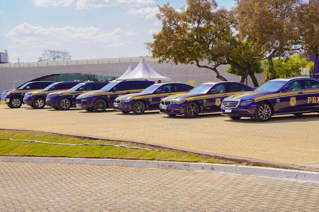 PRF recebe sete carros de luxo estimados em R$ 2 milhões para uso em atividades; veja imagens