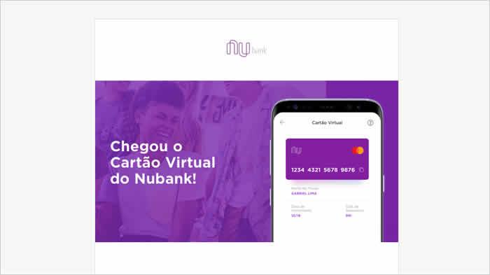 Cartão virtual Nubank não aparece - Motivo