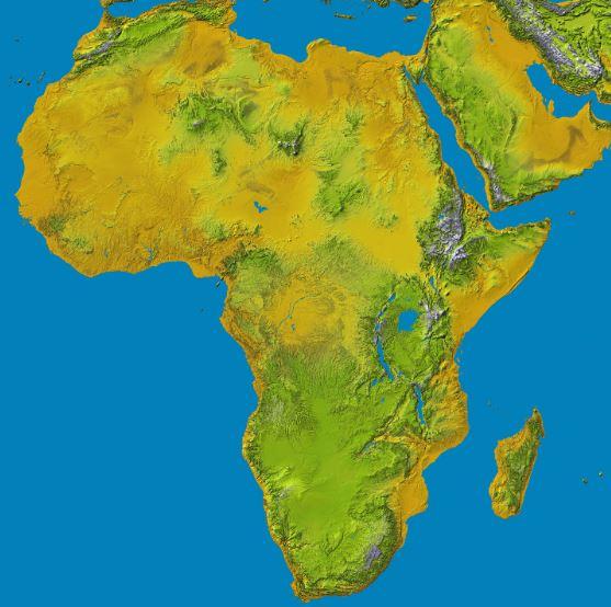 أكبر الدول في أفريقيا حسب مساحة الأرض