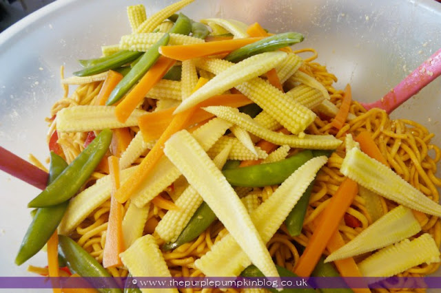 Nutty Noodle Salad at The Purple Pumpkin Blog