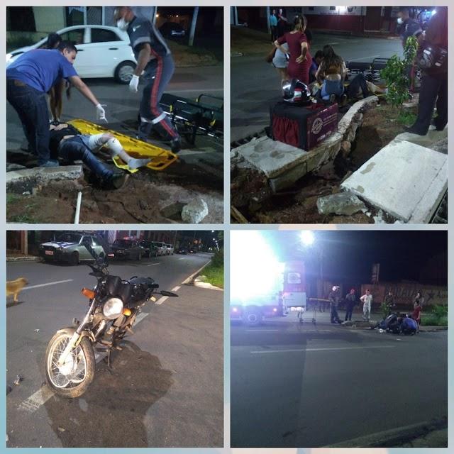Anápolis: Motociclista é atropelado na Avenida Pedro Ludovico