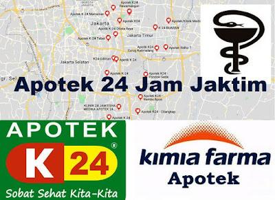 apotek k-24, apotek kimia farma 24 jam Jakarta Timur