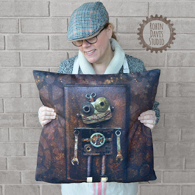 Retro Style Pillows by Robin Davis Studio