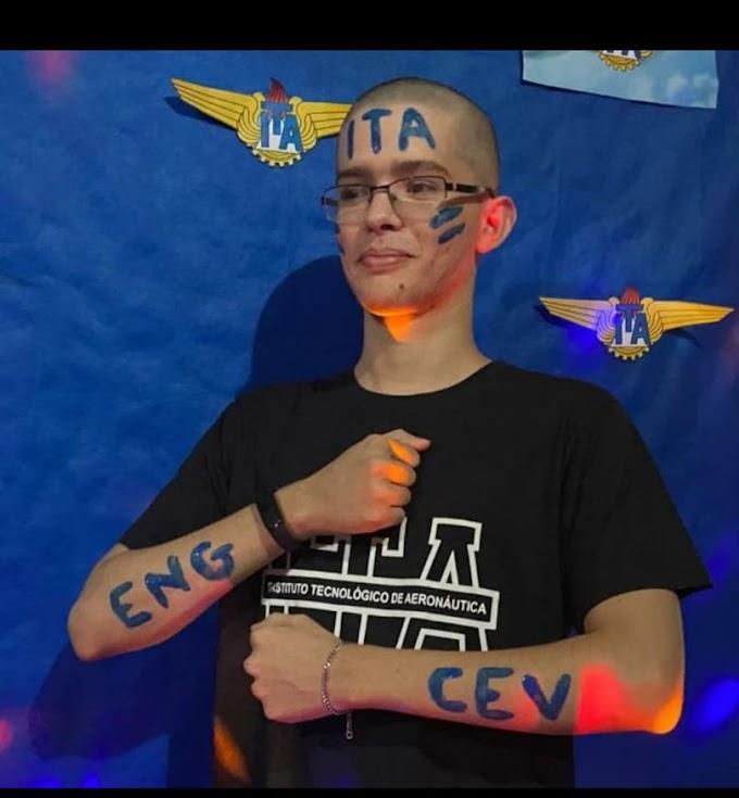 CONQUISTA: Filho de elesbonenses, estudante do CEV Teresina, jovem Emanuel Reinaldo é aprovado em vestibular do ITA