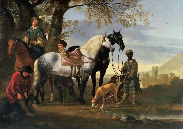Альберт Кёйп - Привал охотников. ок1650
