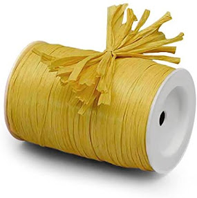 Best Yellow Raffia Ribbon For Gift Wrap Craft Packaging and Decoration