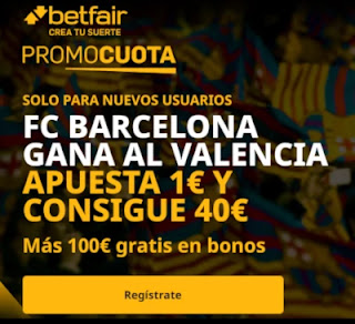 betfair promocuota Barcelona gana Valencia 19 diciembre 2020