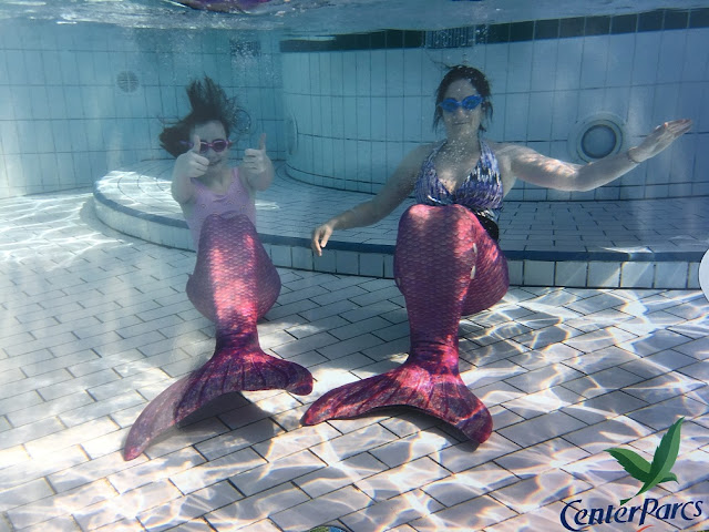 steph and sasha mermaid experience at center parcs
