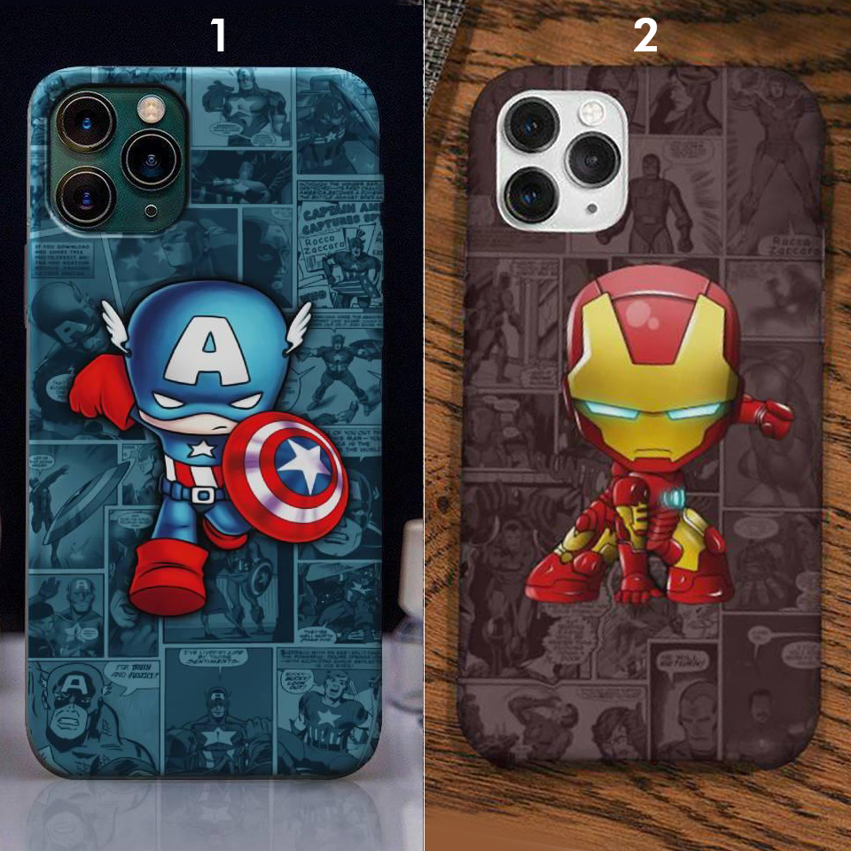 Custom case iron man captain america