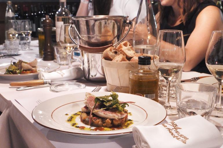 Plat au restaurant Les Ateliers à Maussane-les-Alpilles