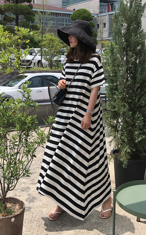 Striped Loose Fit Dress