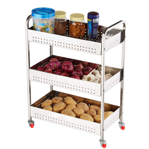 Swadhin 3 Layer Fruit Vegetable Trolley for Kitchen