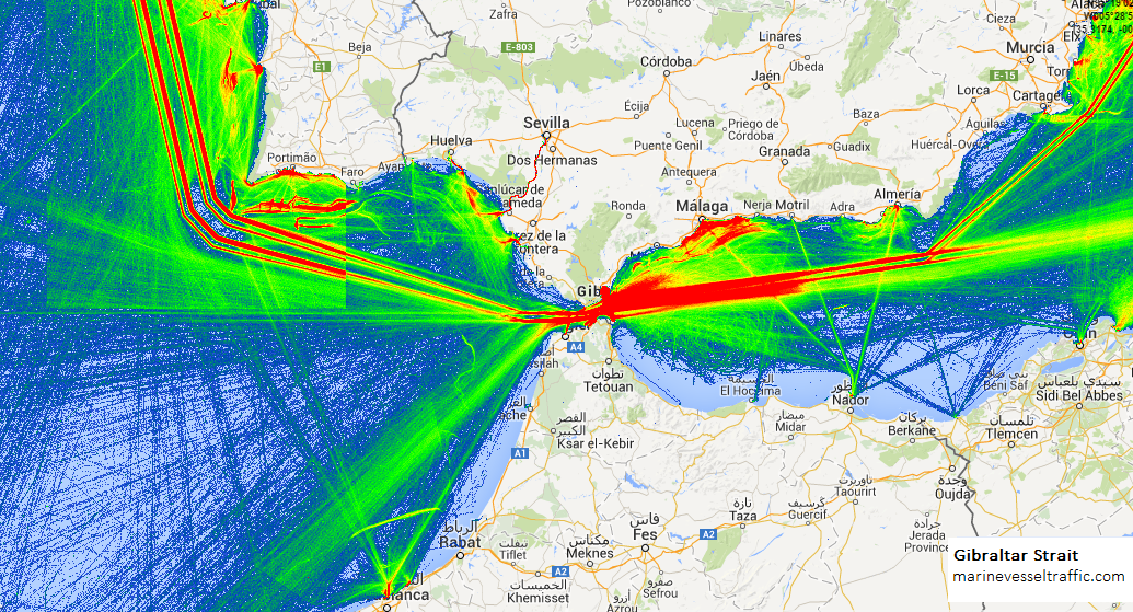 Ship Traffic Map.Ship Traffic