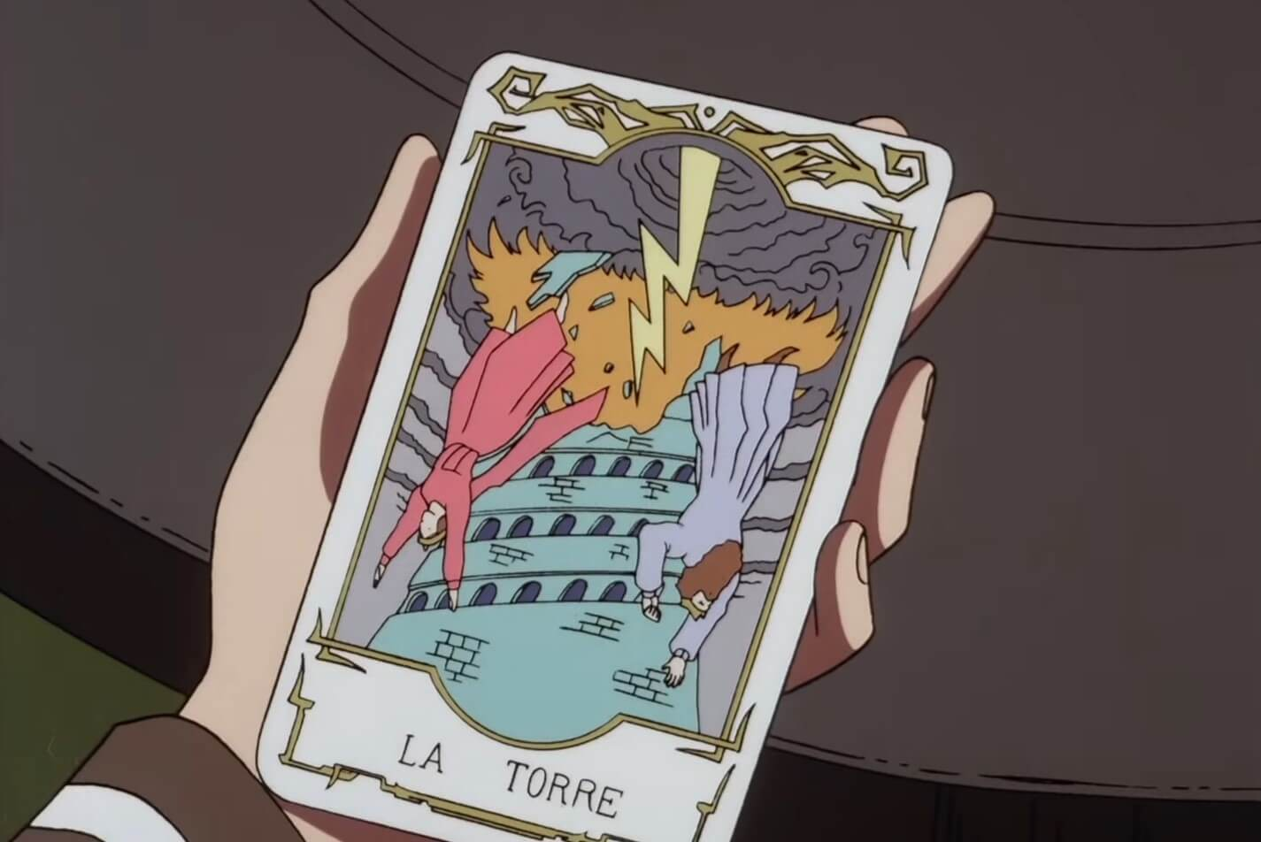escaflowne la torre tower tarot card