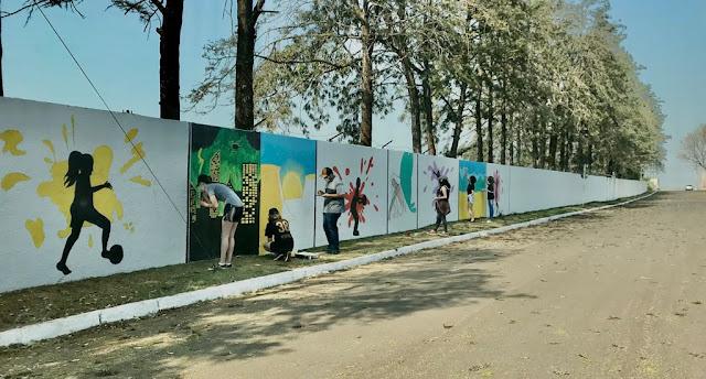 Manoel Ribas: Interact Club está transformando o muro do Estádio Municipal