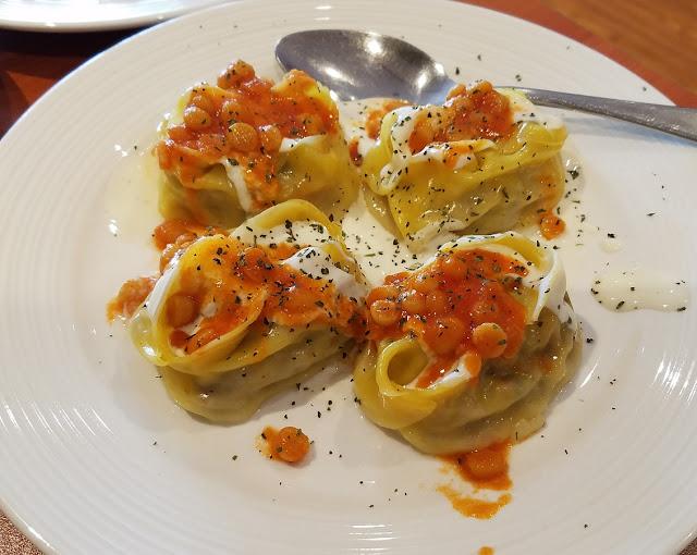 Afghan Salang Restaurant, Dandenong, manti