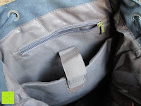 """Innentaschen: Lederrucksack aus Segeltuch Herren/Damen Rucksäcke Rucksack für den täglichen Freizeitgebrauch 13.3""""(L)*19.6""""(H)*7""""(B)"""