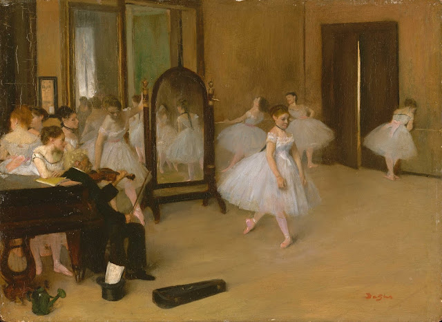 Эдгар Дега - Танцевальный класс (ок.1870)