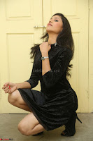 Mounika in a velvet short black dress for Tick Tack Movie Press Meet March 2017 065.JPG