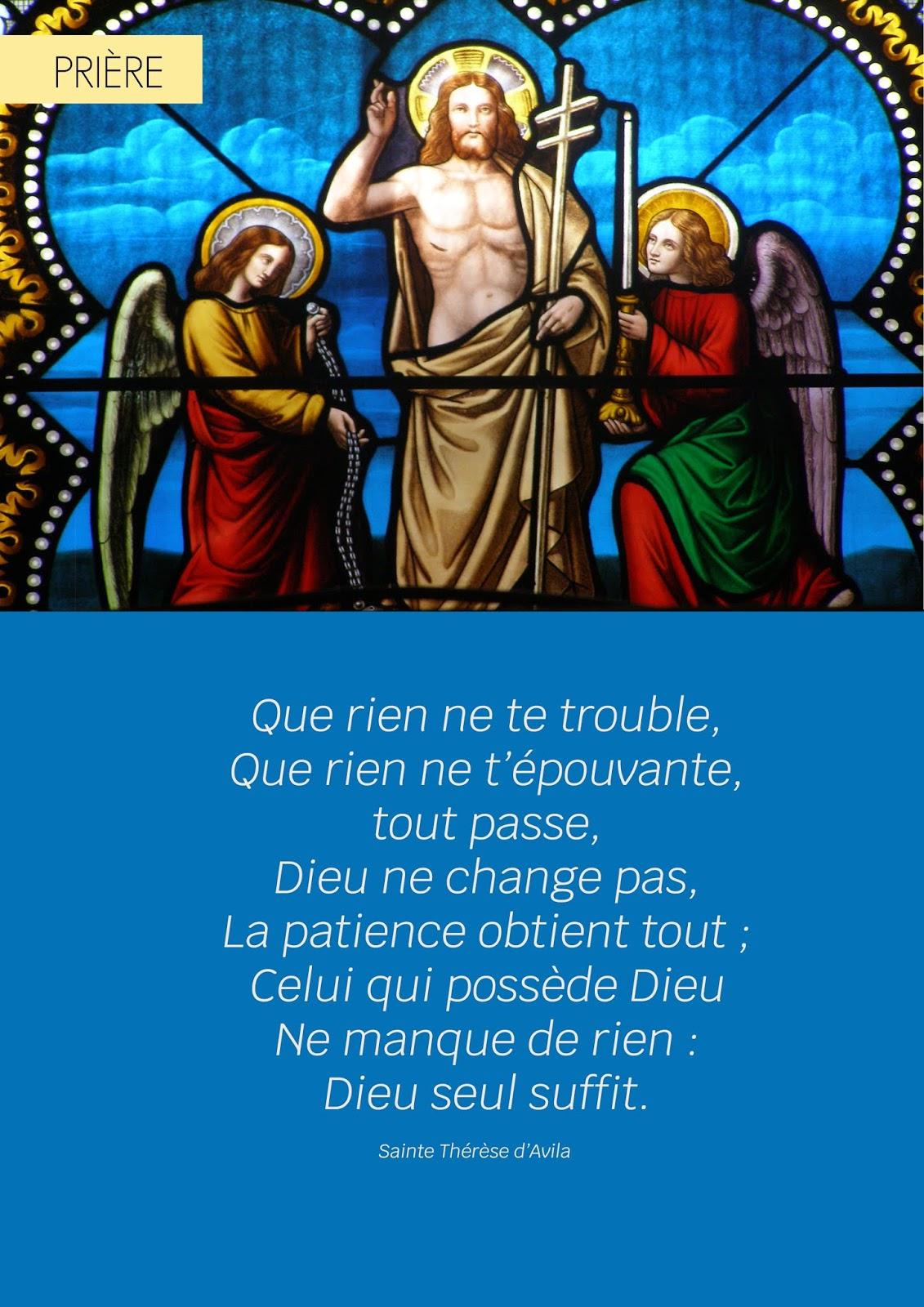 Que Rien Ne Te Trouble : trouble, Prière, Sainte, Thérèse, D'Avila, Trouble, Saint, Vincent, Lignon