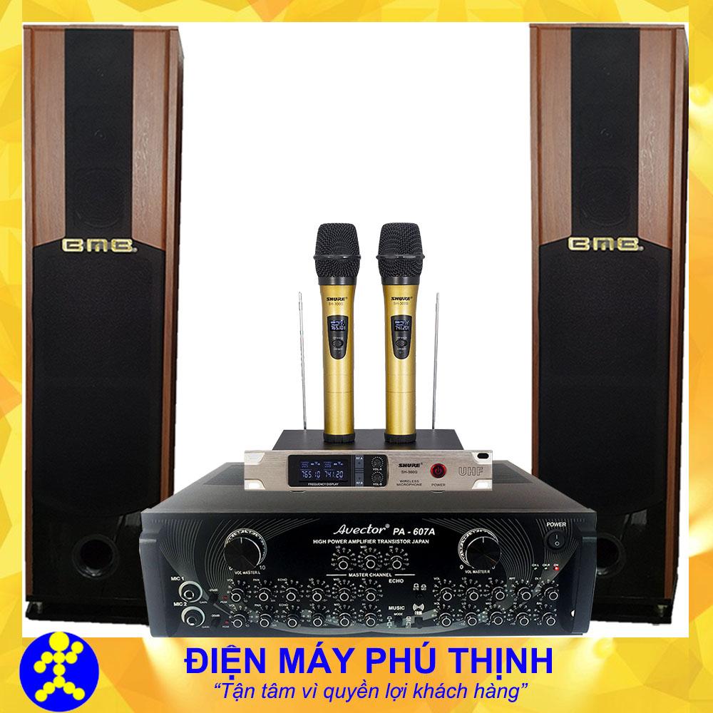 Dàn karaoke gia đình loa đứng cao cấp hát hay mã số D43