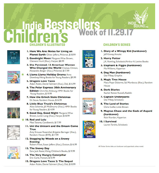 National Indiebound Bestsellers List!