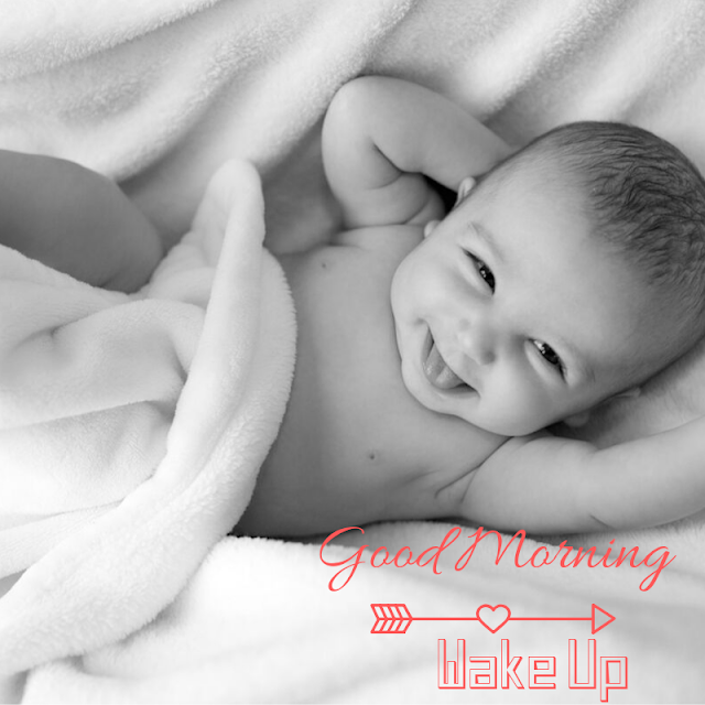 Beautiful baby waking up early in the morning images