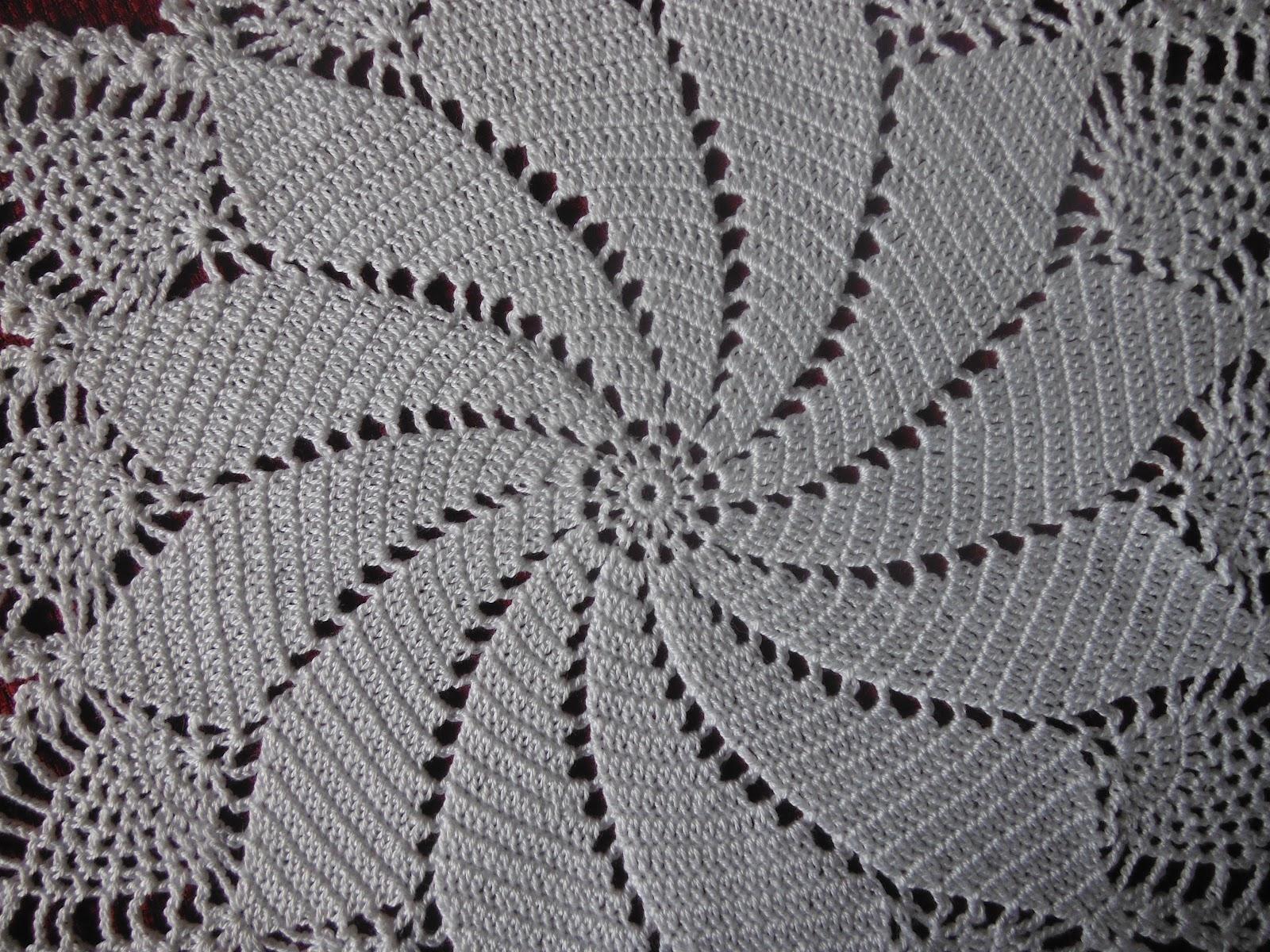 Funky Crochet Pineapple Doilies Free Pattern Photo - Decke Stricken ...